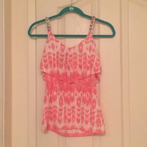 INC Sleeveless Top with Sparkly Straps